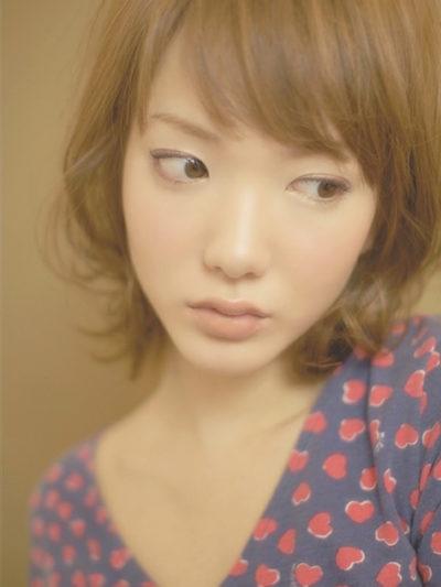 無造作なひし形フォルムで小顔フレンチランダムカール☆